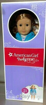 Nouveau Dans La Boîte American Girl # 21 Belle Et Bien 18 Poupée Peau Légère Cheveux Blonds Yeux Noisettes