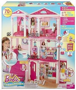 Nouveau Mattel Barbie Story 3 Rose Meublé Poupée Maison De Ville Dreamhouse Maison De Ville