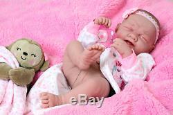 Pleurer Américaine Réincarné Baby Alive Poupée Fille Vinyle 14 Du Nouveau-né Prématuré Vie Comme