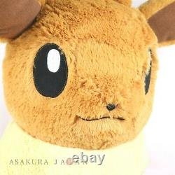 Pokemon Center Original Giant Fluffy Plush Eevee Poupée Fuwa-fuwa Jouet Grandeur Nature
