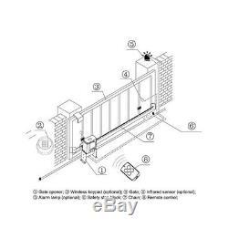 Porte Coulissante 1400lbs Automatique Ouvre Matériel Porte Kit Système De Sécurité