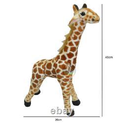 Poupée En Peluche Douce Giraffe Giant Grand Animaux Farcis Soft Kids Jouet Cadeau De Noël