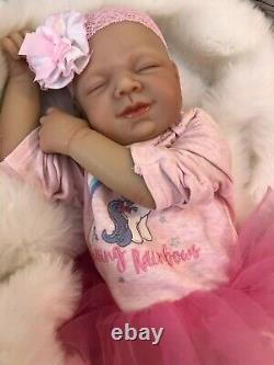 Poupées Cherish Reborn Poupées Pas Cher Bébé Fille Amber Réaliste 22 Nouveau-né Comme La Vie