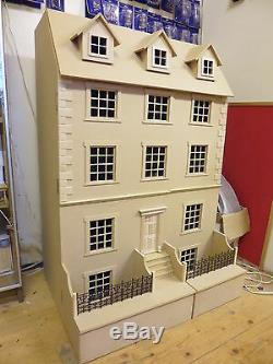 Poupées Maison 1/12 Échelle Géorgienne 8 Chambre Town House Kits De Dhd
