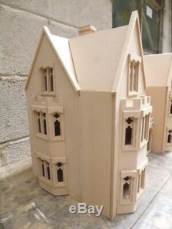 Poupées Maison 1/12 Échelle Grande Maison Le Draycott Gothic Manor 4ft Large Kit Par Dhd