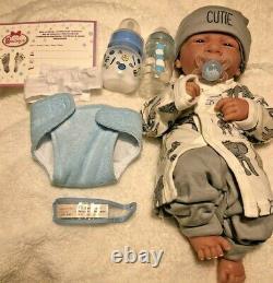 - Quoi? Bébé Garçon Cutie! Preemie Vie Comme Reborn Pacifier Doll + Extras