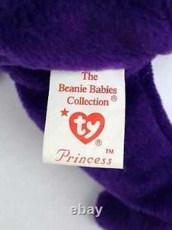 Rare 1ère Édition Ty Princess Diana Beanie Baby (p. V.c. Pellets, Made In China)