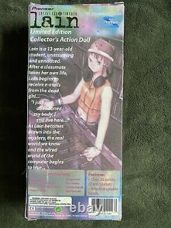 Rare Édition Limitée Toynami Serial Experiments Lain Action Doll Figure
