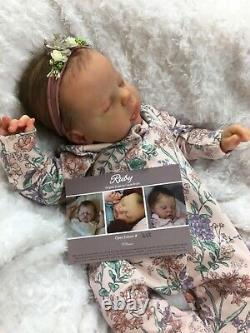 Reborn Baby Art Doll Girl Authentic Reborn Ruby Par Cassie Brace Micro Rooted