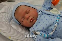 Reborn Baby Doll Carter 7lbs Child Safe, Outfits Vary, Artiste 9 Ans Sunbeambabies