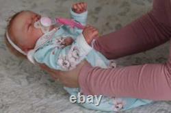 Reborn Bébé Realborn Marnie Sleeping Female Full Front Plate Inclus