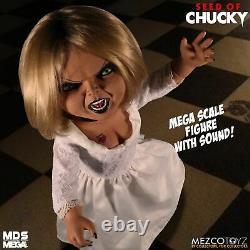 Semence Tiffany De Chucky Parlant 15 Mega Échelle Doll Mezco Mds Horreur Offical
