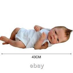 Simulation En Silicone 43cm Reborn Baby Poupée Doux Anniversaire Cadeau Babies Poupée Jouet