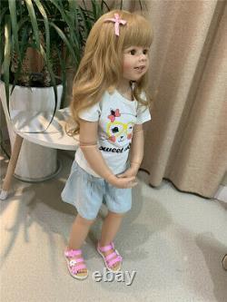 Standing Reborn Toddler Girl Dolls 39 Grande Poupée De Chef-d'œuvre De Vinyle De Bébé D'enfant En Bas Âge