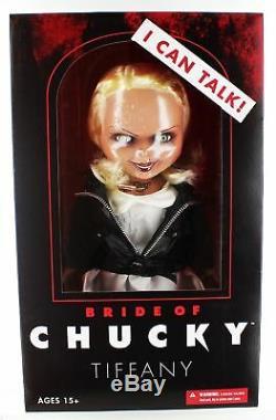 Tiffany La Fiancée De Chucky Parler 15 Mega Balance Doll Mezco Horreur