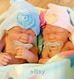 Twins Précieux Prématuré Garçon Et Une Fille Bébés Réalistes Sucettes Have