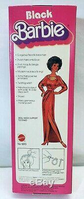 Vintage 1979 Premier Noir Poupée Barbie Disco Afro Robe Rouge Mattel 1293 Nouveau Nrfb