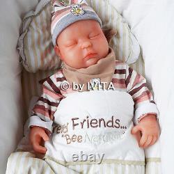 Yeux Fermés Reborn Baby Girl Doll Full Body Soft Silicone Preemie Cadeau